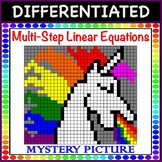 Solve Multi-Step Linear Equations Differentiated Mystery P