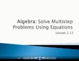 Solve Multi-Step Problems Using Equations - Grade 4 GoMath