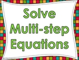 Solve Multistep Equations PowerPoint Practice