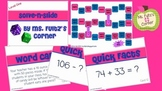 Addition & Subtraction Math Board Game with Task Cards Solve N Slide Level ONE