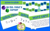 Multiplicatin & Division Math Board Game with Task Cards S
