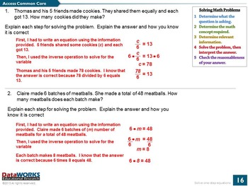 Solve One-Step Equations