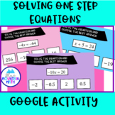 Solve One Step Equations Activity--Google Slide Activity