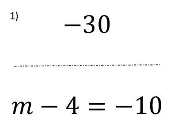 Solve One Step Equations Scavenger Hunt