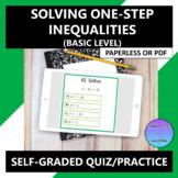 Solve One-Step Inequalities (Basic) Google Form Quiz Practice
