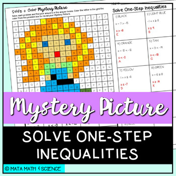 Solve One-Step Inequalities: Mystery Picture (Princess)