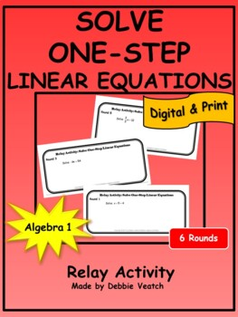 Solve One-Step Linear Equations Relay Activity