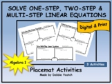 Solve One-, Two- & Multi-Step Linear Equations | Digital -