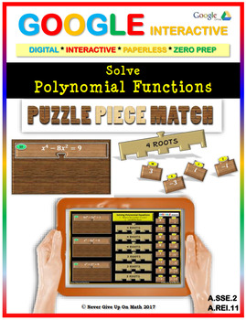Solve Polynomial Equations - Google Interactive: Puzzle Piece Match
