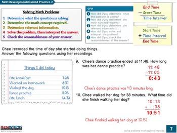 Solve Problems Involving Time Intervals