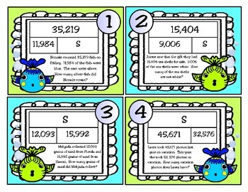 addition and subtraction problems using strip diagrams (teks 4 5a)