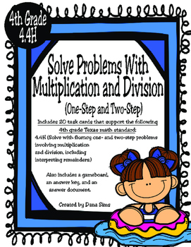 Solve Problems with Multiplication and Division (TEKS 4.4H) STAAR Practice