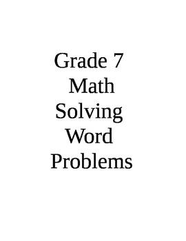 Solve Pumpkin Word Problems