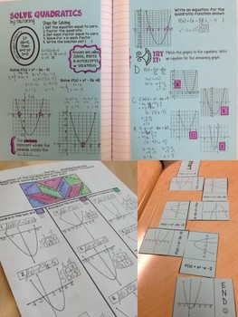 Solve Quadratic Equations by Factoring Mini Bundle
