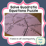 Solve Quadratic Equations Puzzle