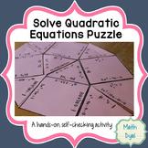 Solve Quadratic Equations Puzzle