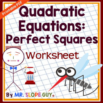 Solve Quadratic Equations Using Square Roots Worksheet By Mr Slope Guy