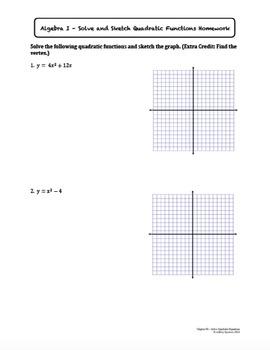 Solve Quadratic Equations Worksheet Bundle