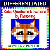 Solve Quadratic Equations by Factoring a=1 Differentiated