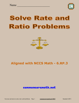 Solve Rate and Ratio Problems - 6.RP.3