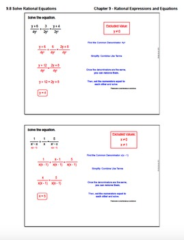 Solve Rational Equations (Lesson Plan with Homework)