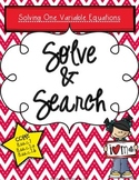 Solve & Search: One Variable Equations