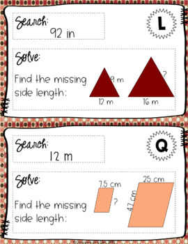 Solve & Search: Similar Figures & Scale Factor