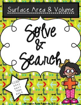 Solve & Search: Surface Area & Volume {FREEBIE}