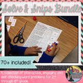 Solve & Snip Personal Use Bundle Grades 2nd-8th Grade (English)