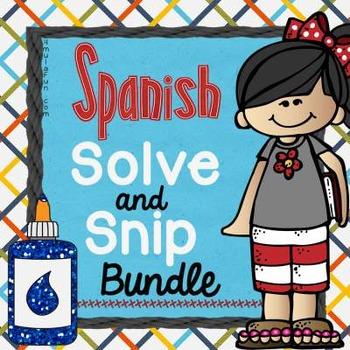 Spanish Solve & Snip® Bundle Grades 2nd-8th Grade