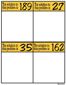 Solve & Sort: Add and Subtract 2-Digit Numbers (TEKS 2.4B)