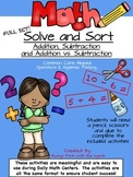 Solve & Sort Addition & Subtraction Strategies  FULL PACK BUNDLE