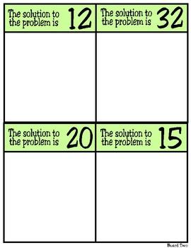 Solve & Sort: Multiplication Situations (TEKS 2.6A)