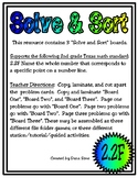 Solve & Sort: Points on a Number Line (TEKS 2.2F)