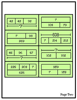 Solve & Sort: Strip Diagrams (TEKS 2.7C)