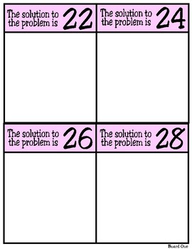 Solve & Sort: Addition and Subtraction Word Problems (TEKS 2.4C)