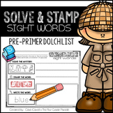 Sight Words - Pre Primer