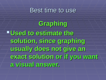Solve System of Equations PowerPoint