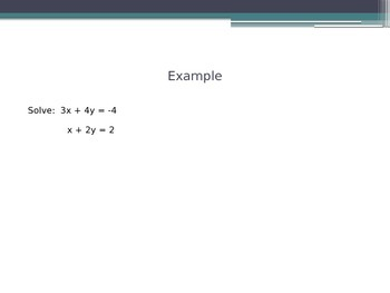 Solve Systems Algebraically