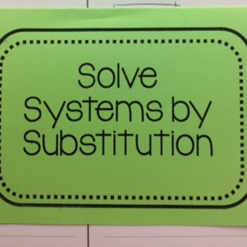 Solve Systems by Substitution Foldable