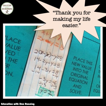 Systems of Equations Interactive Notebook Foldable