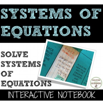 Systems of Equations Notes Interactive Notebook Foldable