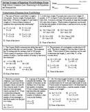 Solve Systems of Equations Given Word Problems Exam (Mrs Math)