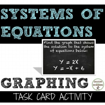 Graphing Systems of Equations Task Card Activity for Algebra 1