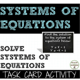 Systems of Equations Task Card Activity