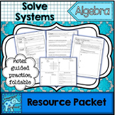Solve Systems of Equations Resource Packet