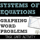 Systems of Equations from Word Problems Graphing Task Card Activity