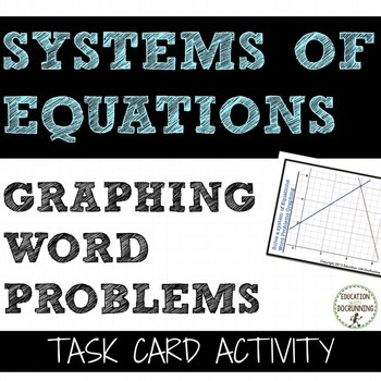 Systems of Equations from Word Problems Graphing Task Card