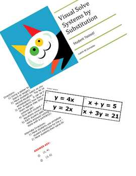 Solve Systems of Equations by Substitution Visual Activity
