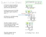 Solve Systems of Equations by Substitution {cheat sheet}